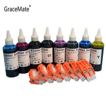 1 set Empty refillable ink cartridges cli 42 cartridge + 8 color For Canon PIXMA Pro 100 pixma pro printer