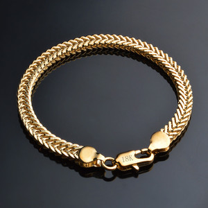 2019 Classic Shiny 18k Gold Snake Chain Bracelet Male Female Jewelry For Daily Party Travel Best popular Free Shipping