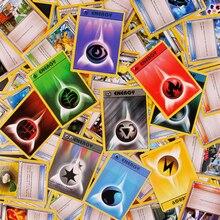 100 шт. карточки с покемонами флэш-карты полный реквизит/энергия/карточки персонажей игровая коллекция карт подарки для детей