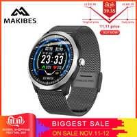 Makibes BR4 EKG PPG smart watch Männer mit elektrokardiogramm herz rate blutdruck smart Band Fitness Tracker Doppel Elf