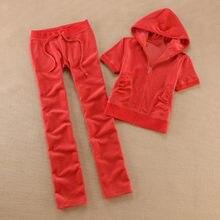 YICIYA – survêtement en velours pour femmes, ensemble 2 pièces, rouge, en tissu, manches courtes, sweat à capuche + pantalon noir, 2021