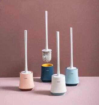 Силиконовая подставка для туалетной щетки для ванной комнаты, белая, синяя, TPR щетка для унитаза, креативная, Скандинавская, Wc, силиконовый д...