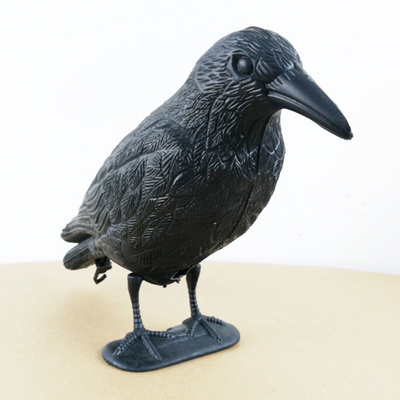 Black Practical Plastic Crow Decoy Hunting Black Garden Yard Bird Deter Scarer Bodied Crow Jackdaw Bird Hunting Shooting Decoy