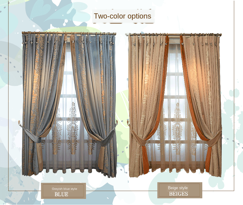Custom Curtains for Living Room Bedroom Neo-Classical Velvet Curtains luxury curtains