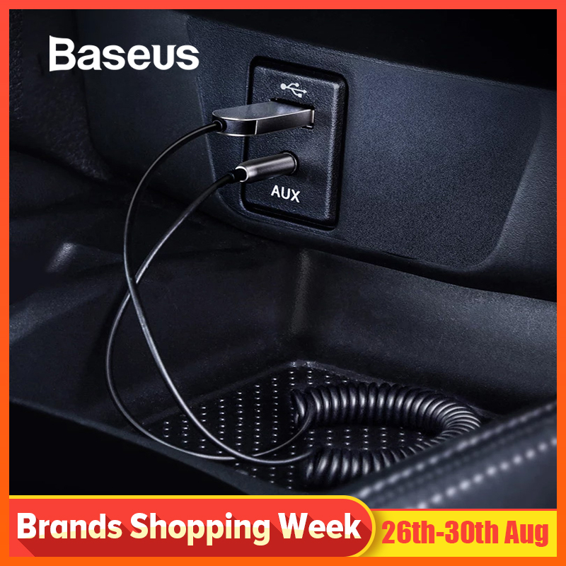 Baseus USB Bluetooth Adapter Cable for Car 3.5mm Jack Aux Bluetooth V5.0 4.2 4.0 Bluetooth Receiver Speaker Audio Transmitter