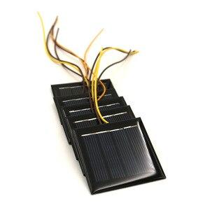 Image 5 - 5 قطعة X 2 فولت 100mA لوحة طاقة شمسية مع 15 سنتيمتر تمديد سلك القياسية الايبوكسي الكريستالات لتقوم بها بنفسك بطارية الطاقة تهمة وحدة صغيرة الخلايا الشمسية