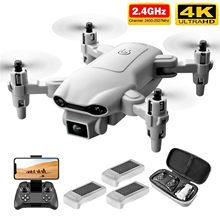 4drc v9 novo mini zangão 4k hd câmera wifi fpv quadcopter dobrável pressão de ar altitude hold 4ch drone de seis eixos com saco de luz