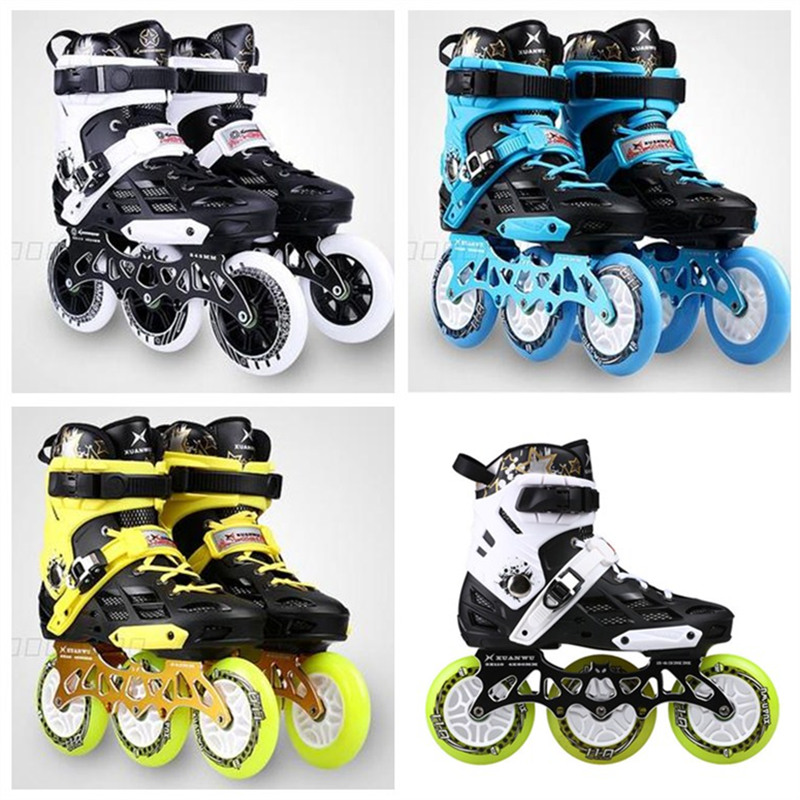 Roller Skates Shoes 3 Wheels 3X110mm Inline Skating Patines For SEBA High FSK Slalom Speed Road Show 110mm 80mm 243mm Frame Base