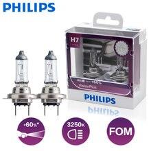 Philips-lámparas halógenas H7 para coche, lámpara de cabeza de 12V, 55W, PX26d, VisionPlus, 3250K, visión más brillante, hasta 60% de aumento, 12972VPS2, 2 uds.