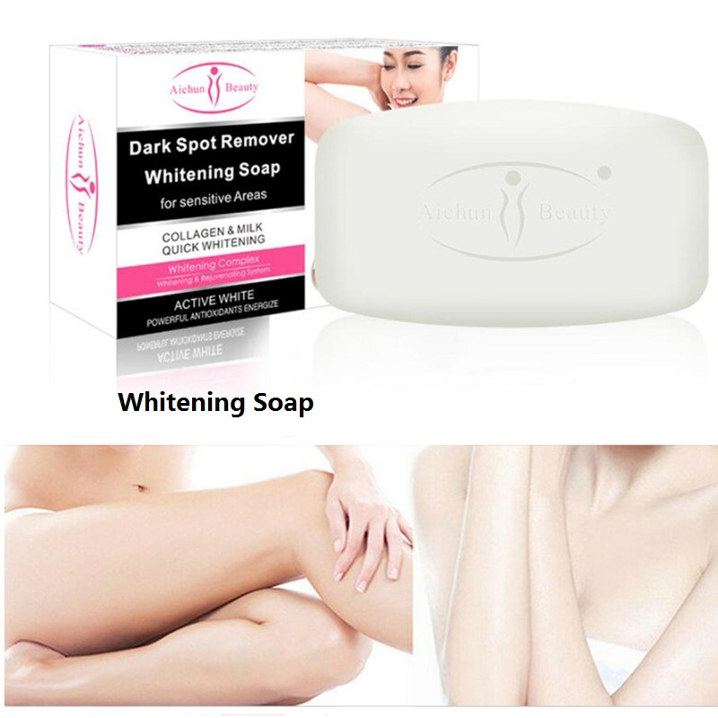 Hot Armpit Whitening Whole Body Milk Soap Between Legs Knees Private Parts Formula Whitener Shower Bleaching Soap Body Care