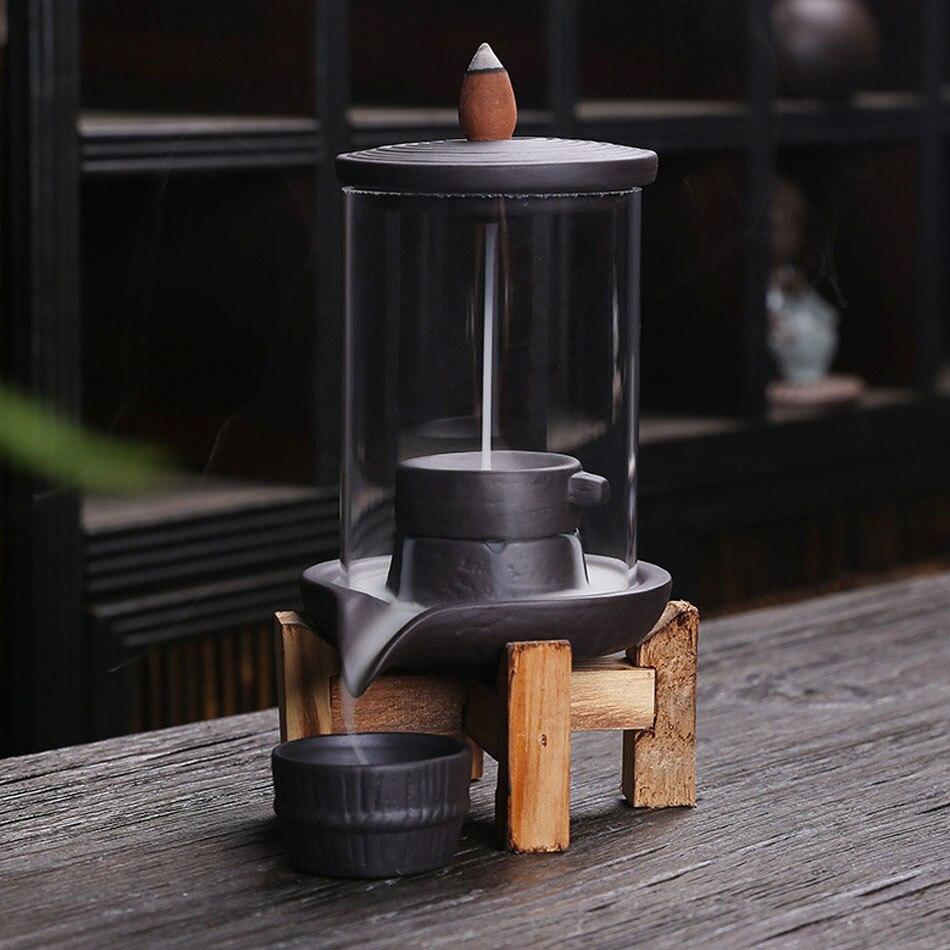 Керамическая курильница «Водопад» с защитой от ветра