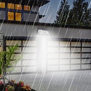 Image 2 - LED de luz de la noche con Sensor de movimiento Solar Powered noche lámpara impermeable al aire libre del Jardín camino calle lámpara de pared luminaria luz nocturna