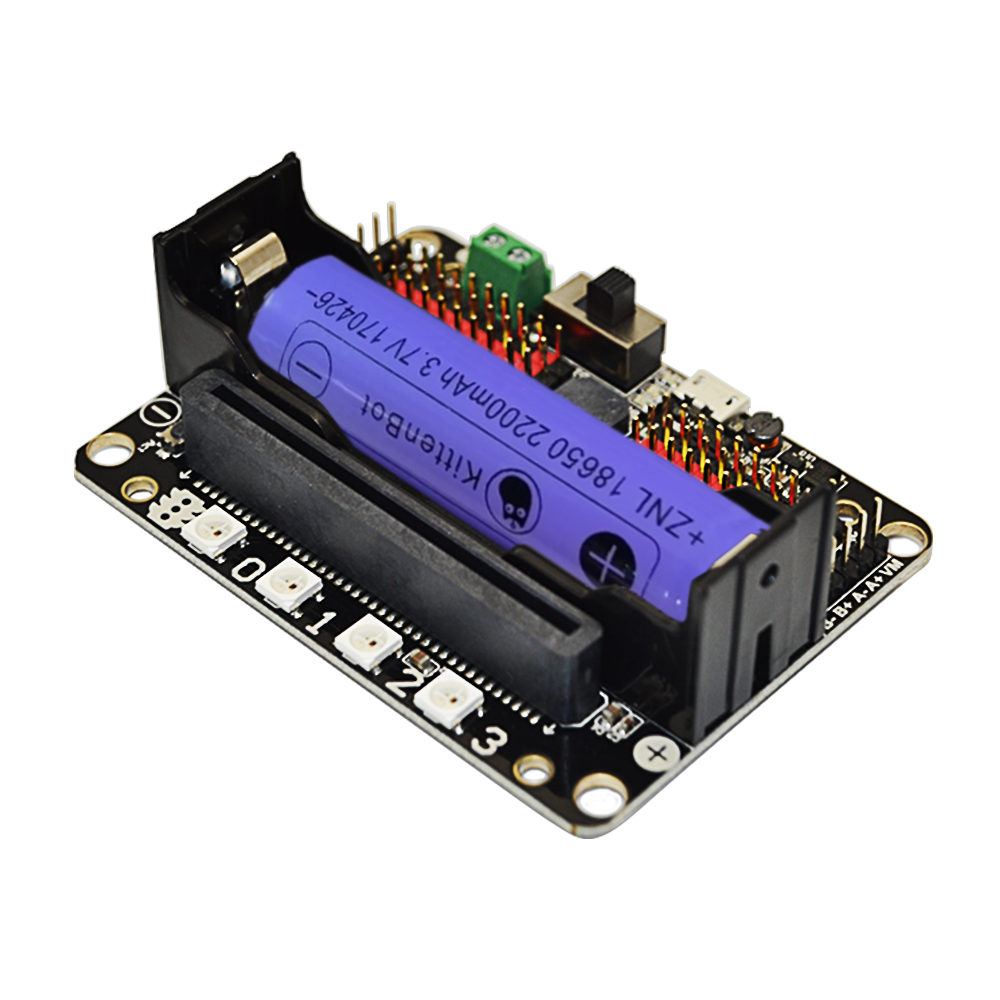 Micro:bit Expansion Board Compatible Socket Support Scratch Python Programming Introduction With 18650 Lithium Battery