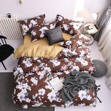 Flower Bedding Set Bed Sheet Queen King Size Soft Comforter Cover Sets