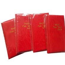 1pcs120 сетка Красная коллекция монет альбом монетница фотоальбом