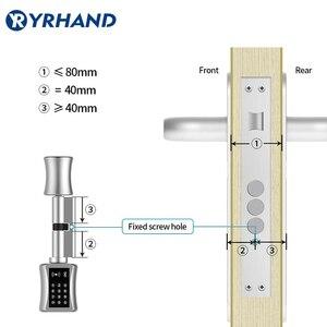 Image 3 - Tt bloqueio apsmart bloqueio diy keyless dupla substituição cilindro bloqueio tt app wi fi euro cilindro fechaduras inteligentes
