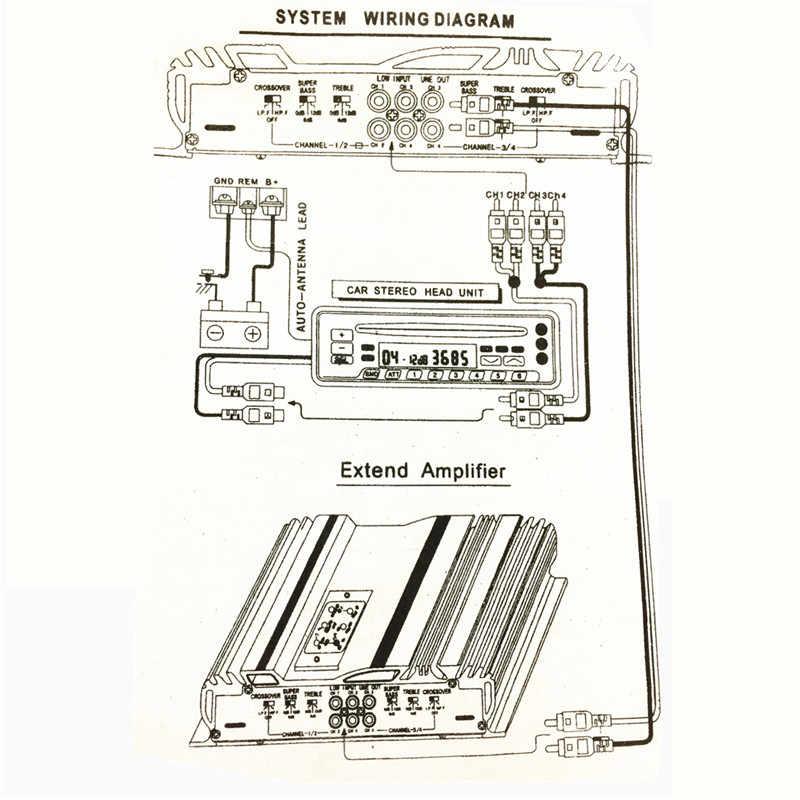 3800w rms 4 channel 12v amplifier audio bluetooth car audio stereo  amplifier amp speaker metal car amplifier car subwoofer
