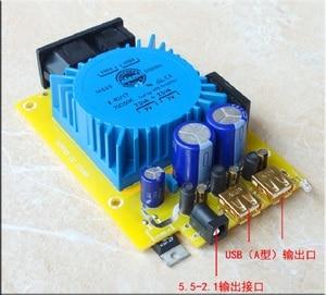 Image 5 - WEILIANG 오디오 15W 선형 조정 전원 공급 장치 출력 USB * 2 + DC 5V