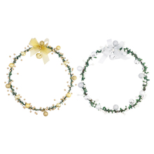 35cm40cm Christmas Wreath Balls Ornament Garland Wall Window Closet Door Holiday Accessories Decorations for Home