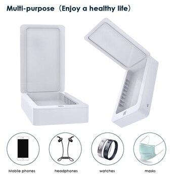 UV Disinfection Box Sanitizer Charger Prevent Flu For iPhone/Samsung Mobile Phone Headphones Mask Sterilizer Kill 99.9% germ