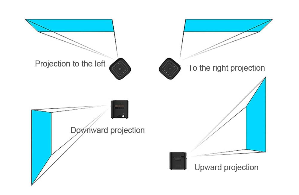 Portable mini LED DLP 3D FULL HD 4K Projector D019 (11)
