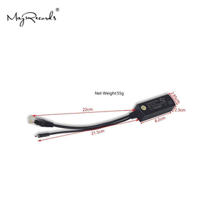 Image 3 - Popularny rozdzielacz PoE Power Over Ethernet 48V do 5V 2.4A Adapter Micro USB 12W