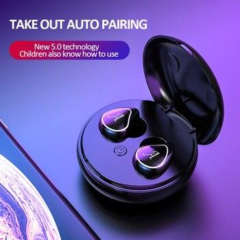 Earphone Bluetooth 5.0 Wireless Headphones Gaming Headset Earbuds Handsfree Power Sports Headphone C
