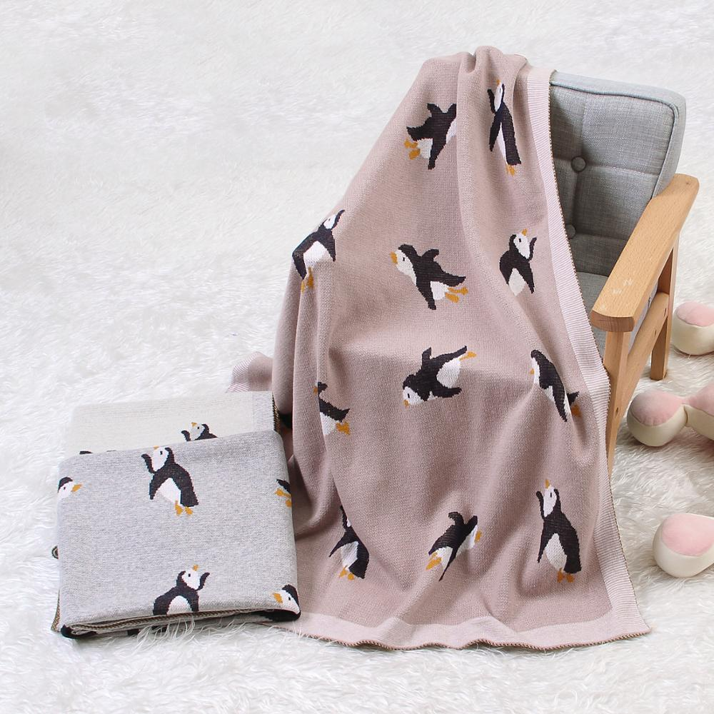 Baby Blankets Knitted Newborn Swaddle Wrap Blanket Sleep Sack For Stroller Bedding Covers Cartoon Infantil Bebes Quilts 100*80cm