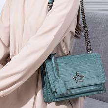 Дизайнерские женские кожаные сумки со звездами сумка мессенджер
