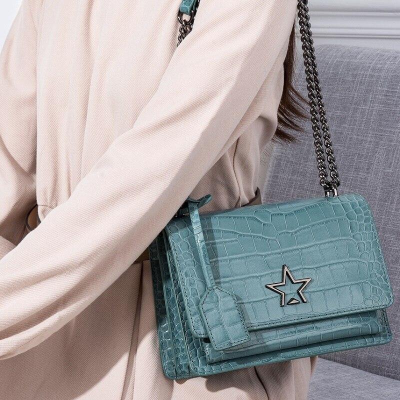 Designed Stars woman leather bags Quality Cow Leather messenger bag Quality leather shoulder bag purse bolsa feminina #QS252