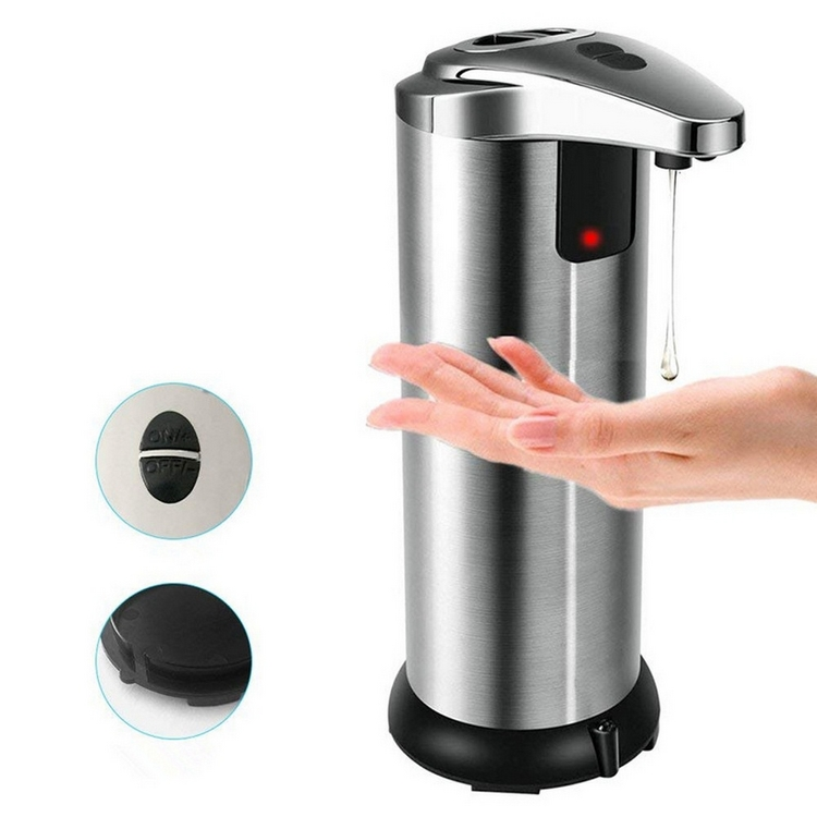 400ml Automatic Liquid Soap Dispenser Smart Sensor Touchless Stainless Steel  Electroplated  Dispensador For Kitchen Bathroom