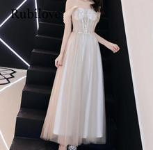 Rubilove Dress female 2019 new banquet elegant evening dinner host party dress bridesmaid