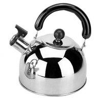 Bules de chá de aço inoxidável para a parte superior do fogão  capacidade 3l com base da cápsula por