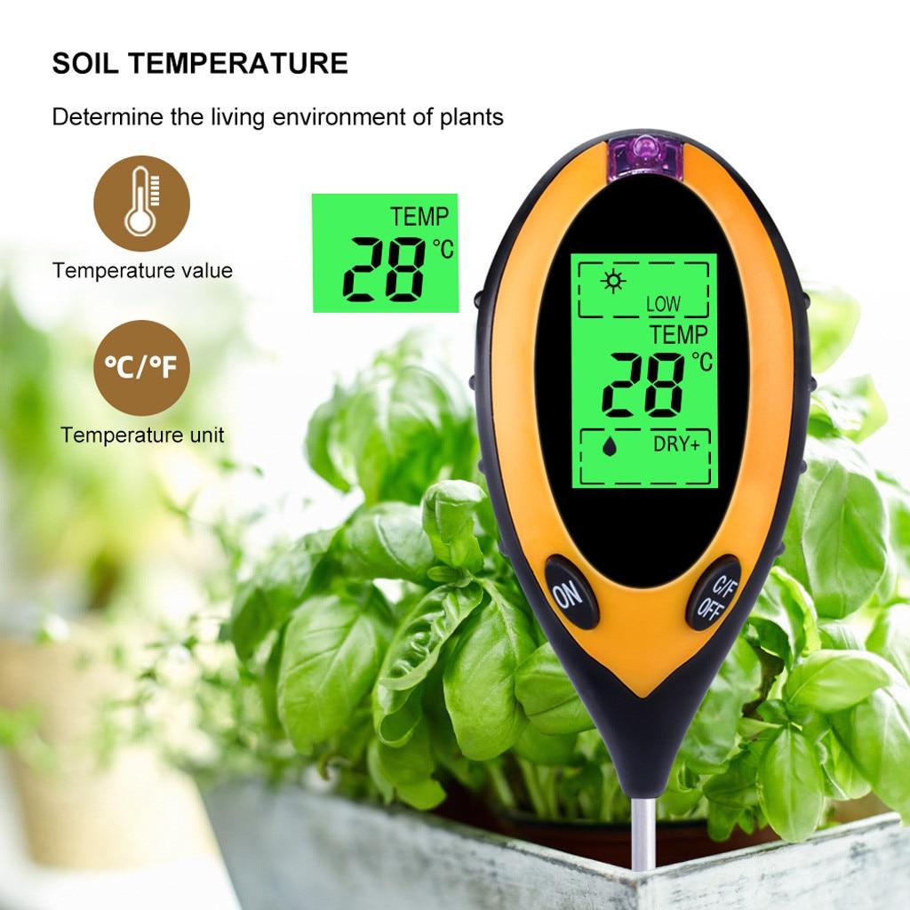 Digital 4 in1 Soil PH Tester Water Moisture Light Sunlight Test Meter For Garden Plant Flower Acidity Moisture Measurement Tools