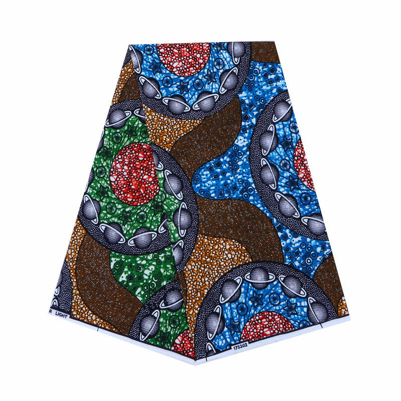 2019 Dutch Wax High Quality African Veritable Ankara Wax Print Fabric Colorful 100% Cotton 6Yards\set