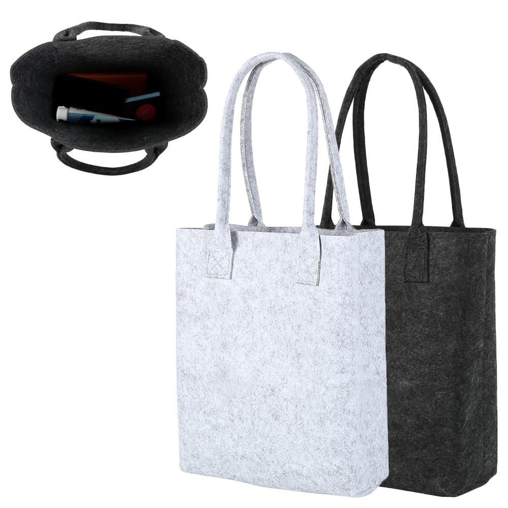 Felt Shopping Bag New Fashion Woman Handbag Shoulder Storage Hand Bags Black Gray Eco Friendly Ladies Purse Pouch Totes Bag