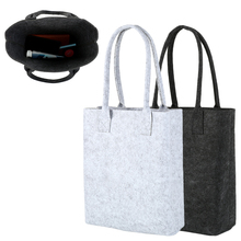 Felt Shopping Bag New Fashion Woman Handbag Shoulder Storage