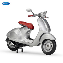 WELLY 1:18  2014 Vespa 946   Diecast Alloy Motorcycle Model Toy For Children Birthday Gift Toys Collection welly 1 18 yamaha yp240dx diecast alloy motorcycle model toy for children birthday gift toys collection