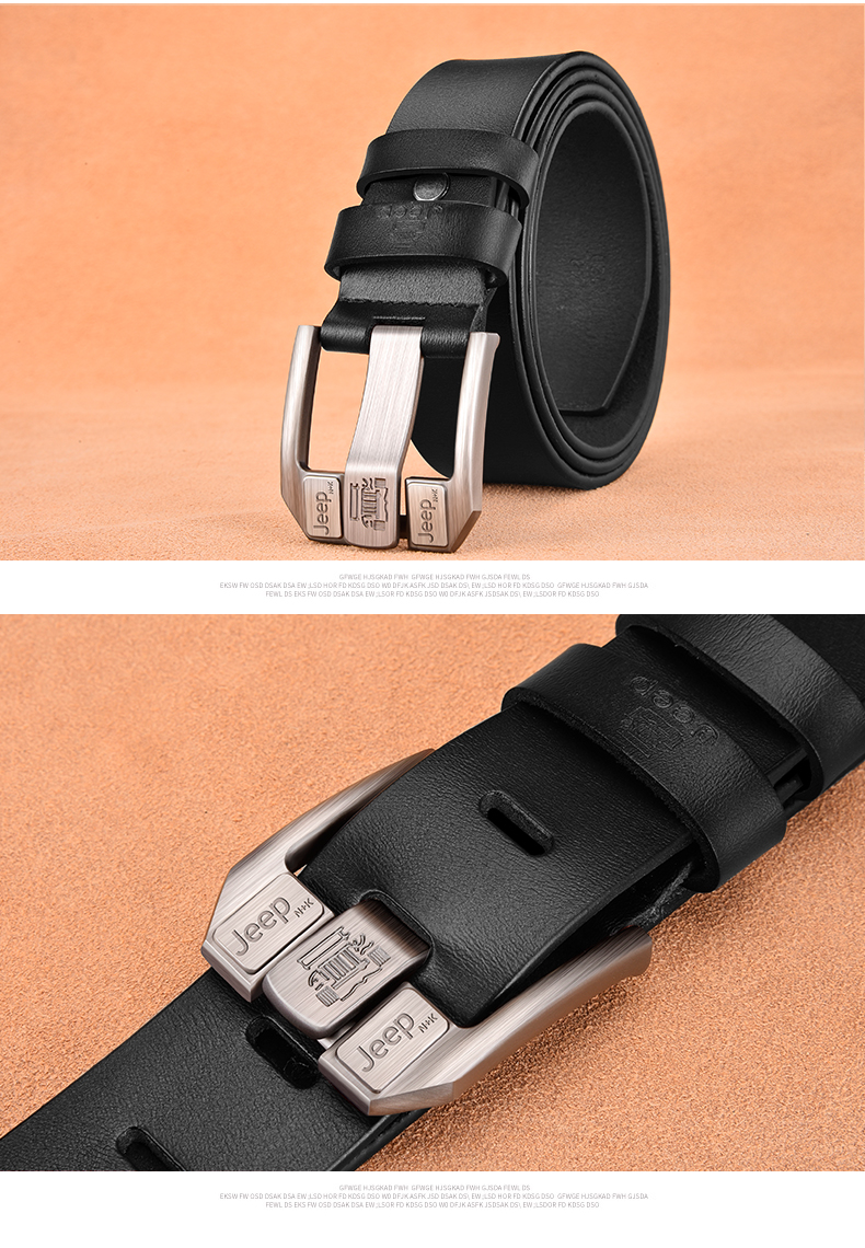 Hb6aa30514c6f40f4b60667ec888573d7L - NO.ONEPAUL Genuine Leather For Men High Quality Black Buckle Jeans Belt Cowskin Casual Belts Business Belt Cowboy waistband