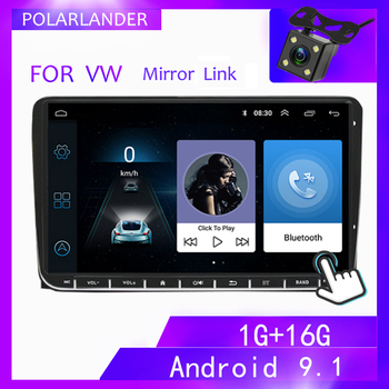 2 Din 9 Multimedia For Bora Golf VW Polo Passat B6 B7 Touran Android WIFI Car Stereo Radio GPS Navigation MP5 Player image