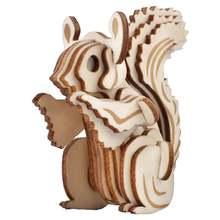 Белка diy 3d деревянная головоломка сборочный Набор для резки
