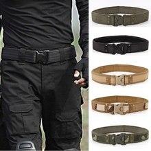 2020 novo estilo do exército cintos de combate liberação rápida cinto tático moda masculina lona cintura ao ar livre caça 5 cores opcional 130cm