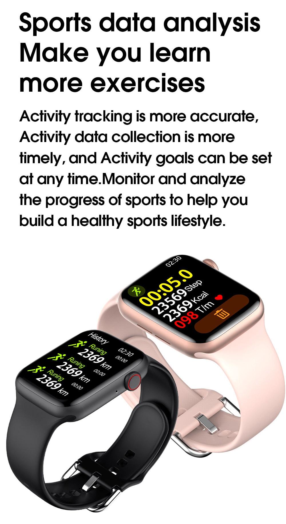 Hb6aa5357efdd4a05a574987d8fb5f17cP TREZER IWO W26+ Pro Smart Watch 1.75 Inch 320*385 Series 6 IPS Full Touch Screen Custom Watch Face Smartwatch Men Women PK HW22
