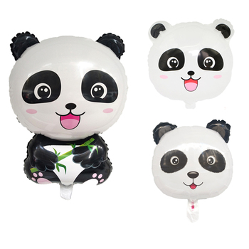 Panda Cartoon Animal Foil Balloon Children Birthday Party Decoration Baby Shower Kids toy Letax balloons globos Helium ball image