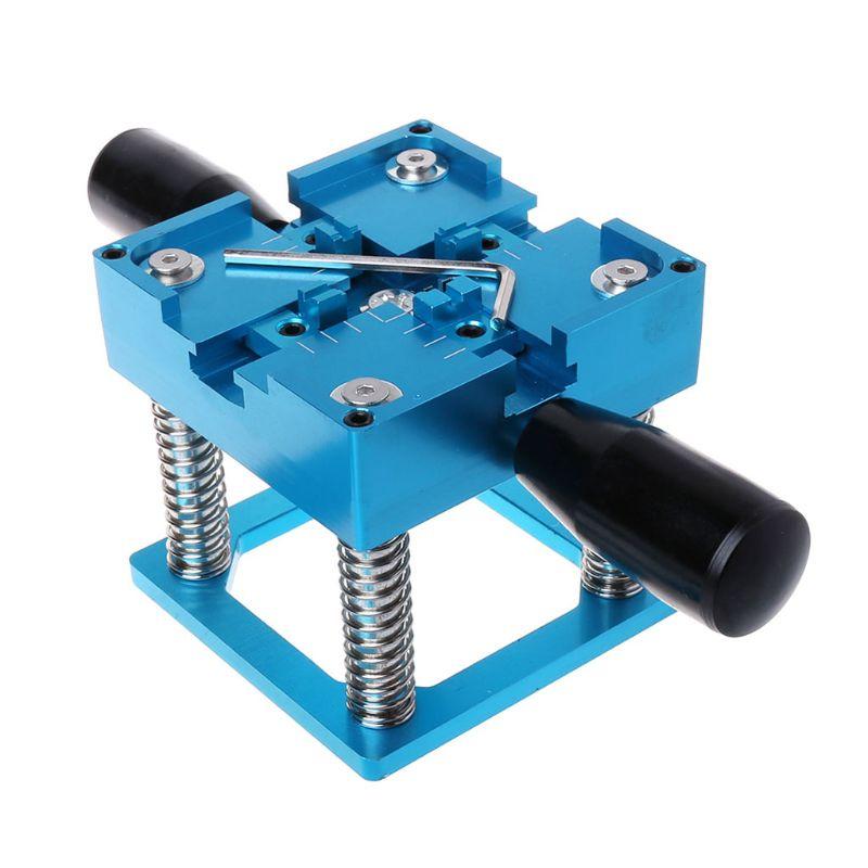 Blue BGA reballing kit 90x90mm BGA reballing station with hand shank Gift BGA Universal Stencil