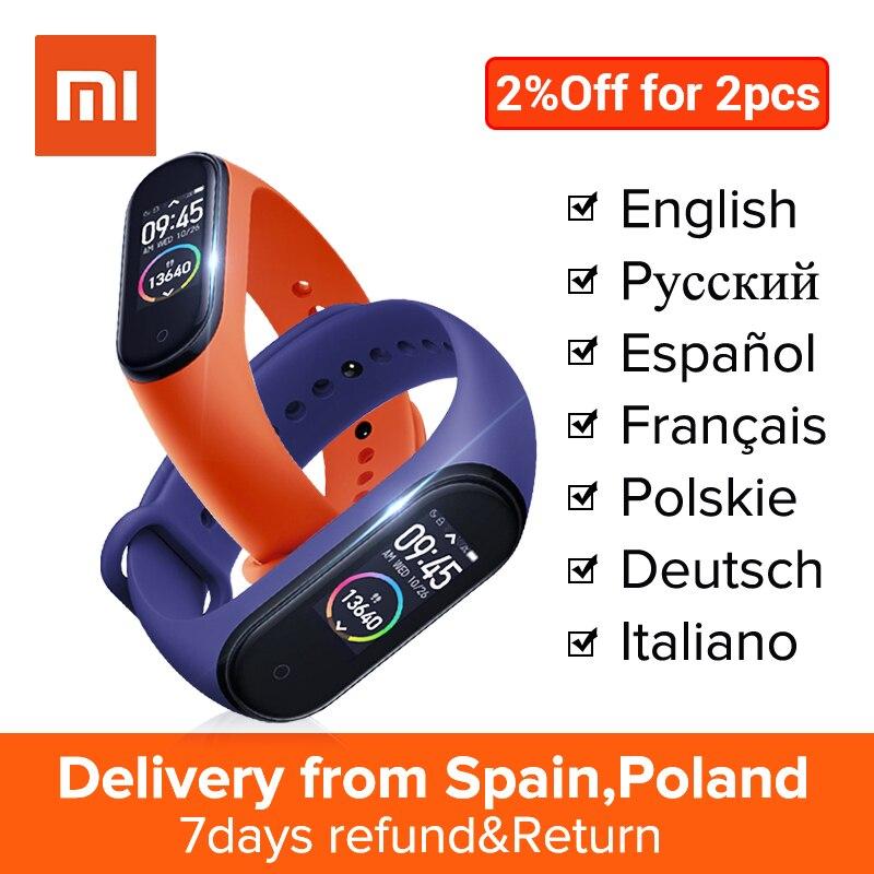 English/Spanish/Russian Xiaomi Miband 4 Smart Band 0.95