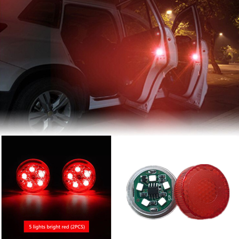 2x Car Door <font><b>LED</b></font> Warning lamp Anti-collid signal light For <font><b>Peugeot</b></font> 307 206 308 407 207 3008 406 <font><b>208</b></font> 508 301 2008 408 5008 image