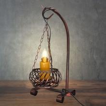 Luz de escritorio Vintage de comedor lámpara de aceite eléctrica antigua de bronce con acabado de óxido lámparas de mesa para luz de diseñador antigua