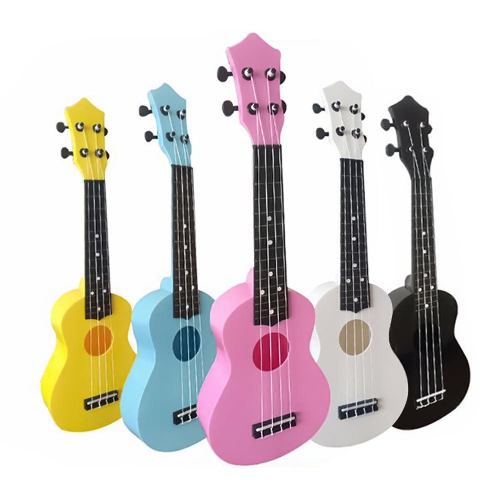 Ukulele Pink 21 Inch 4 Strings Ukelele Cheap Hawaii Mini Guitar Tone Candy color
