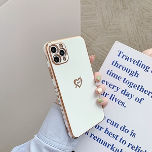 Image 5 - Electroplated Love Heart Phone Case For iPhone 11 12 Pro Max XS X XR 7 8 Plus Mini SE 2020 Soft Silicone Bumper Back Cover